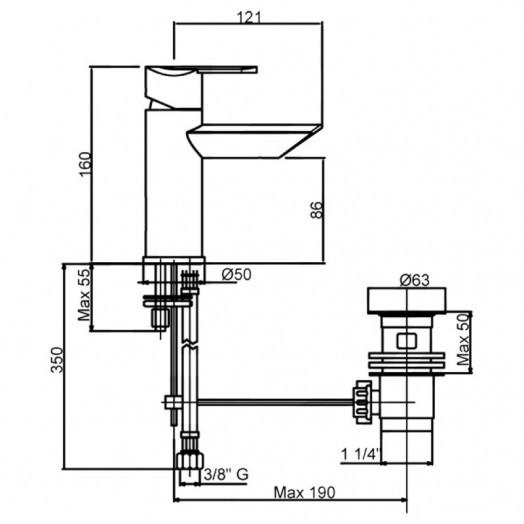 Змішувач для раковини Bianchi Dream LVBDRM2002IMCRM