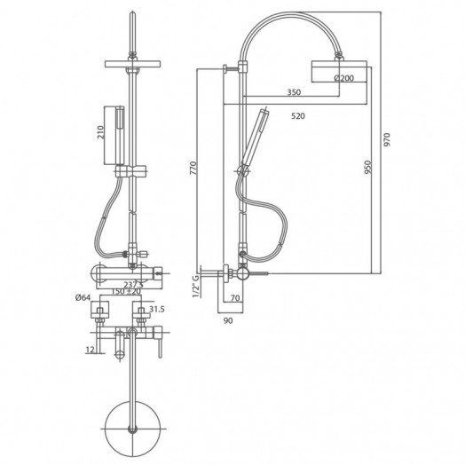 Душова система Bianchi Style ESDSTY2025ECRM