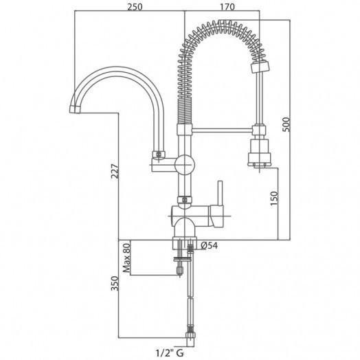 Змішувач для кухні з рефлекторним виливом Bianchi Style LVMSTY2015FCRM