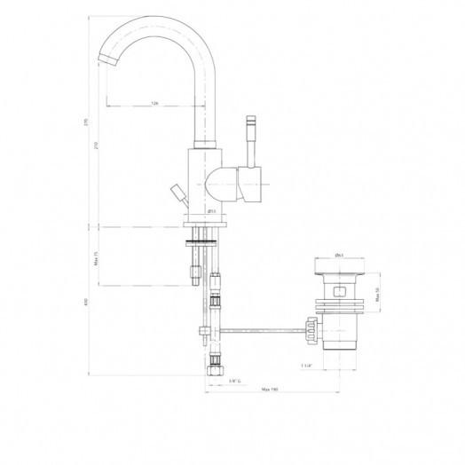 Змішувач для раковини Bianchi Mody LVBMDY2002IACRM
