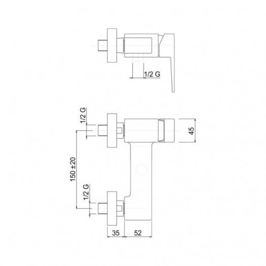 Смеситель для душа Bianchi Jump ESDJUM2005065SKCRM