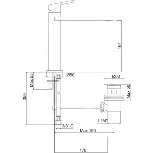 Смеситель для раковины Bianchi City LVBCTY2019IACRM