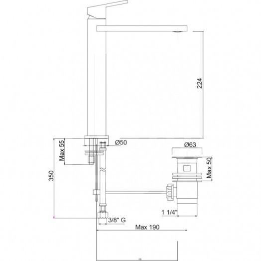 Змішувач для раковини Bianchi City LVBCTY2022UACRM