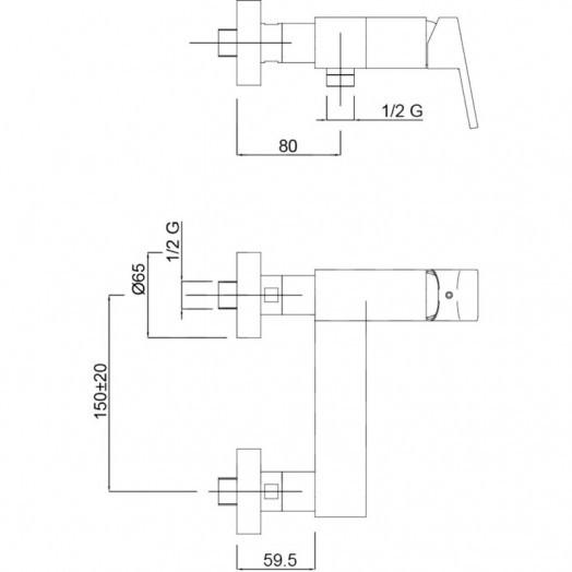 Смеситель для душа Bianchi City ESDCTY200500CRM