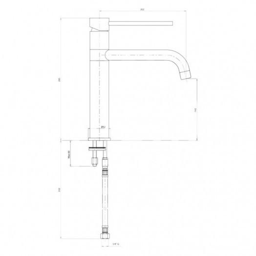 Змішувач для кухні Bianchi Style LVMSTY2000ACRM