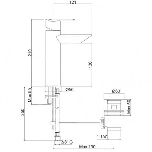 Змішувач для раковини Bianchi Dream LVBDRM2018IACRM