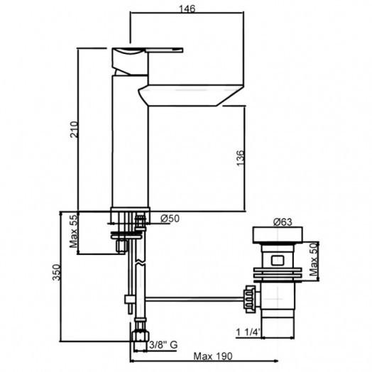 Смеситель для раковины Bianchi Dream LVBDRM2019IACRM