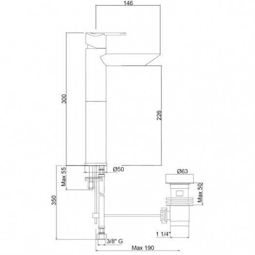 Змішувач для раковини Bianchi Dream LVBDRM2022UACRM