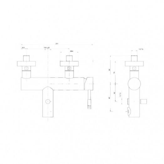 Смеситель для ванны Bianchi Mody VSCMDY200400CRM