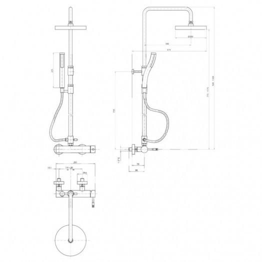 Душова система Bianchi Mody ESDMDY2025CRM