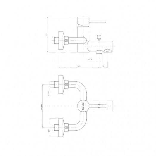 Змішувач для ванни Bianchi Mini VSCMIN2004SKCRM