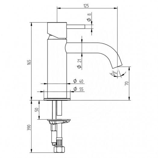 Смеситель для раковины Bianchi Steel LVBSTE2002CMINX