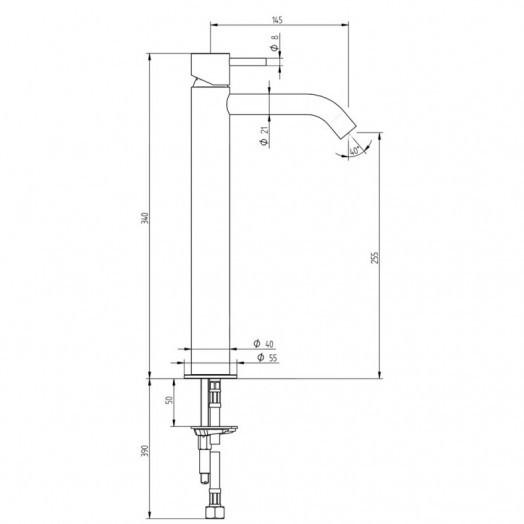 Смеситель для раковины Bianchi Steel LVBSTE2013CMINX