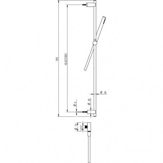Душевой гарнитур Bianchi Steel SALSTE651000INX