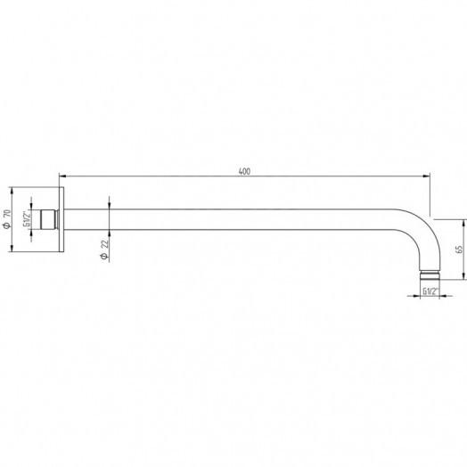 Кронштейн для верхнього душу Bianchi Steel BRDSTE190000INX
