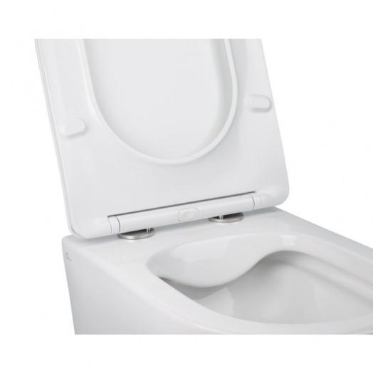 Комплект Qtap инсталляция Nest QTNESTM425M08CRM + унитаз с сиденьем Jay QT07335176W + набор для гигиенического душа со смесителем Inspai-Varius QTINSVARCRMV00440001